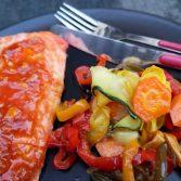 saumon à la sauce pékinoise