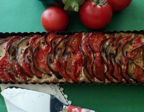 tarte aubergines