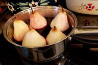 poires au vin madeleines roquefort