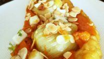tatin-de-fenouils-et-melon-feta-miel-et-amandes