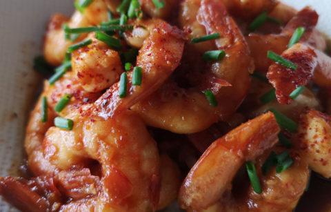 crevette-au-miel-et-ail